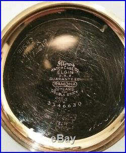 Elgin 18S. 17 Jewels fancy dial (1916) grade 336 14K. Gold Filled Case