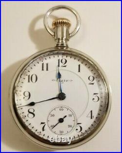 Elgin 18S B. W. Raymond 19 jewel adj, double sunk dial grade 240 display case