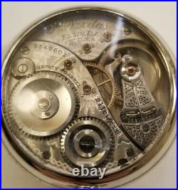 Elgin 18S. VERITAS 21J. Adj. (1911) Railroad watch first generation display case