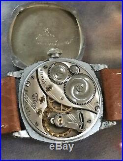 Elgin 1928 Fancy Star Cased Bold Style 3/0s Gentlemen's Nice Vintage Wrist Watch