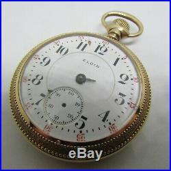 Elgin 23J Veritas 18s RR Pocket Watch Diamond Caps Incredible Boss 25 year Case