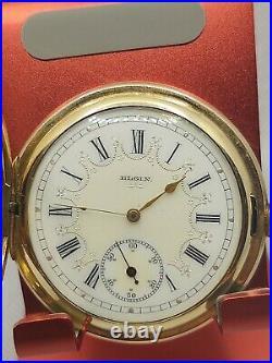 Elgin Fancy Dial O'hara Hunter Case Pocket Watch Grade 290