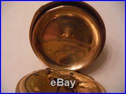 Elgin Keystone Gf Hunting Case Pocket Watch 18s Works In Good Condition