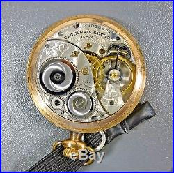 Elgin Pocket Watch 17j Size 12 Runs Gold Filled 20 Year Case