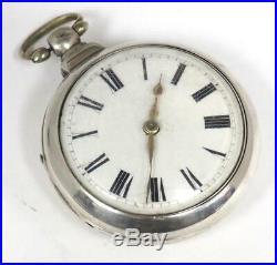 Georgian Pair Cased Pocket Watch Fusee Verge Solid Silver Pocket Watch C1787