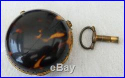 Georgian William Peacock Kimbolton 1766 Silver + Pair cased Verge Pocket Watch