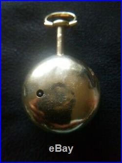 Georgian William Peacock Kimbolton 1766 Silver Tortioseshell cased Verge Pocket