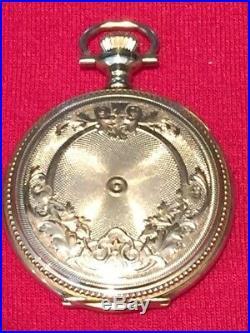 Gorgeous 1907 Waltham Pocket Watch Solid 14K Gold Hunter Case, 15 Jewel, Size 0s