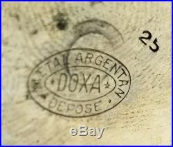 HUGE ANTIQUE DOXA GOLIATH RAILROAD RR THEME POCKET WATCH BIG CASE 68.1mm