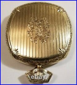 Hamilton 12S. Rare 21J. Adj. Grade 904, cushion 14K G. F. Case only made 4,100