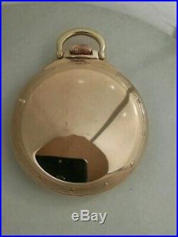 Hamilton 16 size high grade 992B adj. 21 jewels 10K gold filled Hamilton A case