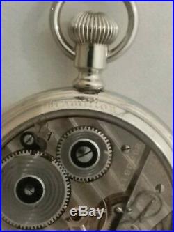 Hamilton 16 size high grade 992E adj. 21 jewels Hamilton glass back display case