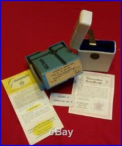 Hamilton 950B Bakelite Cigarette Case, Original Outer Box and Guarantee card