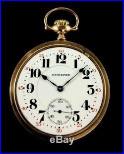 Hamilton 992 16s 21J Railroad Pocket watch Fany Display Case Fine Condition