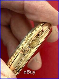 Hamilton Railroad Yellow Gold Filled Bar Over Crown 16 Size Case Very Nice