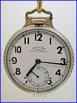 Hamilton Railway Special Pocket Watch 950b 23 Jewel Case Model #2 Two Tone 10b