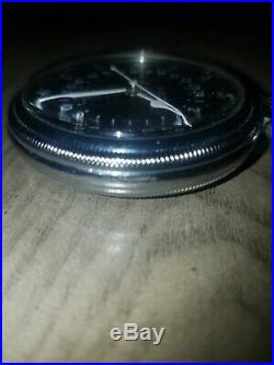 Hamilton Watch Co AN-5740 Military WWII G. C. T. 24 Hour Pocket Watch & Metal Case