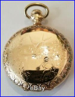 Hamilton scarce 21 jewel adj grade 993 gold filled hunter case (1917) very nice
