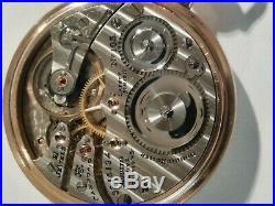 Hampden (1915) 16S. 21 jewels adj. Grade 105 railroad 14K. Gold filled case
