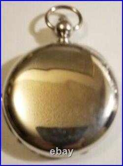 Henry Biegulin 18 Size 11 Jewel Key Wind Pocket Watch Coin Silver Case Circa1880