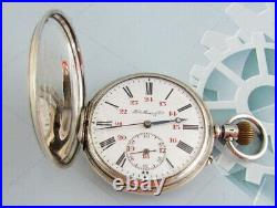 Henry Moser (Hy Moser & Cie) Swiss Silver Case Enamel Dial Antoque Pocket Watch