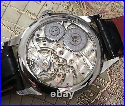 High grade hamilton pocket watch movement in new SS case Cal 920/23 jewels/43 mm