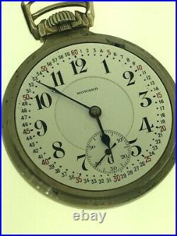 Howard Keystone Series 10 21j Rr Pocket Watch 16s Gold Filled Case Super Clean
