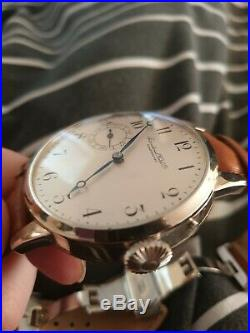 IWC Marriage Watch. Vintage Pocket Watch Conversion. Glass Backed. XXL Case