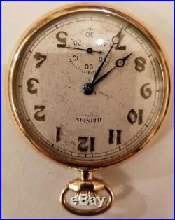 Illinois 12S. 17 jewel adjusted two-tone grade 405 (1916) Gold filled case
