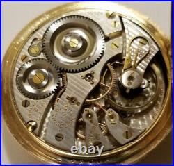 Illinois 16 size 19 jewel adj. Gold trimmed movement 14K G. F. Hunter case (1917)