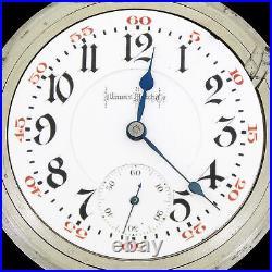 Illinois 1923 Bunn Special Model 6 RR 24J Pocket Watch Alaska 18S Swing-Out Case