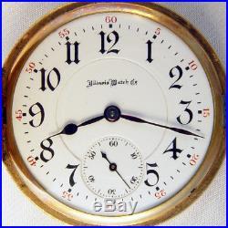 Illinois A Lincoln 21 Jewel 16s Beautiful Hunting Case Railroad Pocket Watch