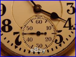 Illinois Bunn Special Type III 60 Hour Railroad Grade Pocket Watch Model 29 Case