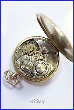 Illinois Watch Co 14k Gold Filled Case Cobalt Blue Enamel Dial