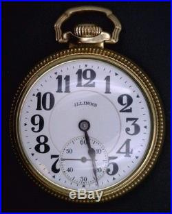 Illinois Watch Co. Bunn Special Size 16 21 Jewel Gold Filled Case 60 HR Motor