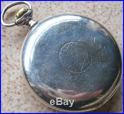 International Watch Co. Pocket Watch Silver Case open face 51 mm. In diameter