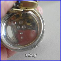 J. G Graves Sheffield Solid Silver cased Pocket Watch excellent condition