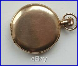 James Walker'To The Admiralty' Gold Plated Half Hunter Case Pocket Watch