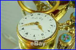 Julien Le Roy Quarter Repeater Triple Cases Verge Fusee Pocket Watch For Ottoman