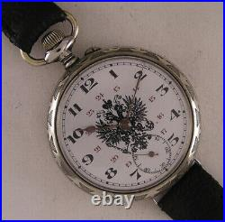 Just Serviced Russian Award Beaucourt 1900 French Remarkable Case Wrist Watch