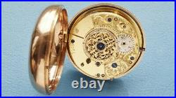 LARGE VERGE FUSEE DOCTORS POCKET WATCH in GOLD PAIR CASES HM 1806