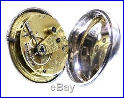 Large Antique Pair Cased Pocket Watch 1861 Silver Fusee Lever. Serviced