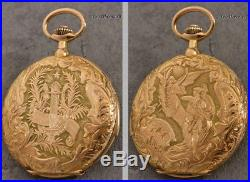 Large, Magnificent 18k Gold Minute Repeater In Decorated Case With Original Box