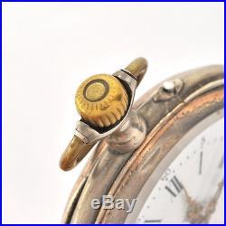 Late 19th C. Euro AVANCE RETARD POCKET WATCH 800 Silver Case Cylinder Movement