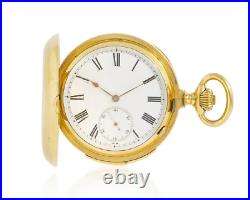 Le Coultre 18K heavy hunter case minute repeater pocket watch, nice chime