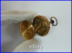 Lecoultre 18k Tri-color Gold Case Pendant Pocket Watch