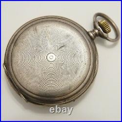 Longines Full Hunter Pocket Silver Case for 18 Lignes Movement, Case Only