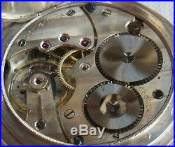 Longines Pocket Watch open face silver & enamel niello case 48,5 mm. In diameter
