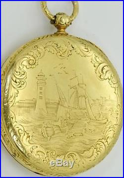 MUSEUM historic Chinese Qing Dynasty 18k gold fancy case watch. Guangxu Emperor