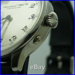Men's IWC Schaffhausen, Vintage Movement of Pocket Watch in stainless case